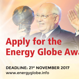 ENERGY GLOBE Award 2017 Applications Now Being Accepted